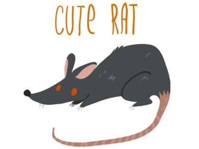 Cute Rat cartoon concept game image illustrator flat rat vector cute