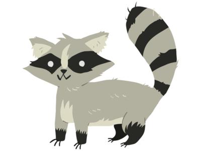 Raccoon cartoon animal flat vector mascot raccon racoon raccoon