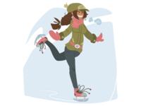 Skate Girl On Ice