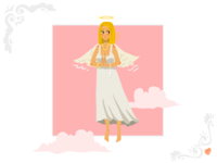 Angel Girl Greeting Card
