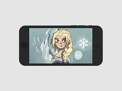 Frozen phone photoshop digital art fanart wallpaper phone disney frozen elsa