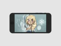 Frozen phone