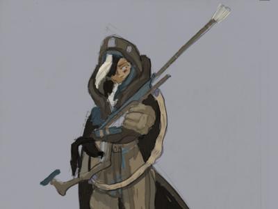 Ana design character wip fanart art overwatch ana