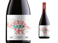 Akra Wine Label