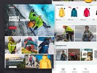 Sportswear web design - Ansilta
