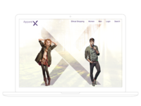 Apparel X Welcome Page