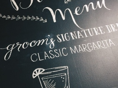 Bar Menu Chalkboard WIP
