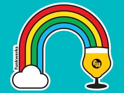 Saison Rainbow Sticker