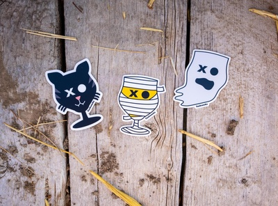 Spooky Sticker Set