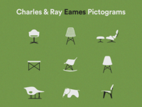 Eames Chairs Icons Pictograms