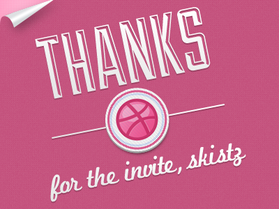 Thank You thank you first shot dribbble stamp page curl