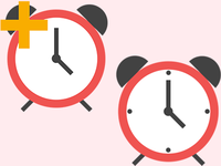 Clock / Save Time Material Icons