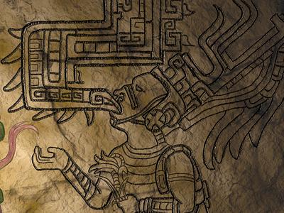 Mythical Threads: Quetzalcoatl II mayan art quetzalcoatl photoshop mythology digital painting graphic design web design mythical creatures
