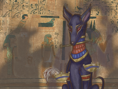 Mythical Threads: Jackal egyptian art jackal anubis photoshop mythology digital painting graphic design web design mythical creatures