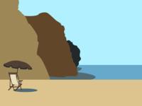 Minimalist Beach Rendering