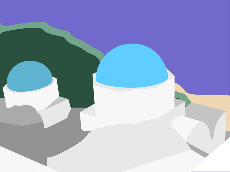 Minimalist Illustration II scenery vector architecture illustration beach minimalism illustrator