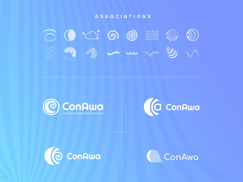 ConAwa logo design process identity vector logo branding web design web ui site design