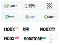 ModxPRO logo design