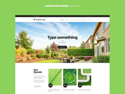 Landscape design template