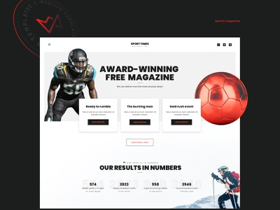 Sport Times sites template identity branding ux web design ui web site design