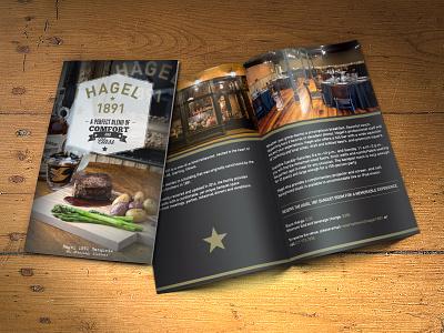 Restaurant Brochure culinary vintage single fold half fold bi-fold brochure restaurant