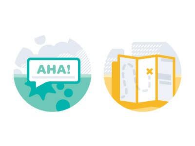 Insights 3 and 4 iconography spot illustrations badges