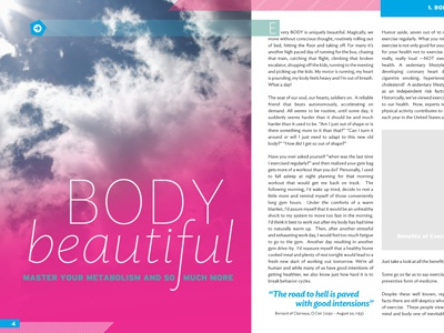 Body Beautiful editorial health exercise