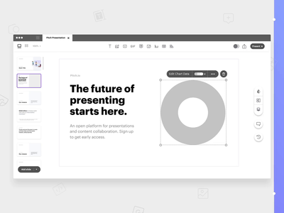 Pitch - From Wireframe to HiFi wireframes deck pitch deck pitch motion app ux animation ui