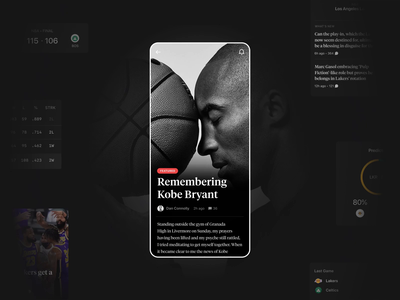 The Athletic - Case study cards newsfeed feed news app news sport design mobile app interaction animation ui