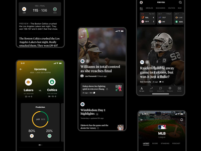 The Athletic iOS App - Case Study Part 2 sports design games newsfeed news sport design mobile ios app ux ui