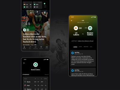 The Athletic iOS App - Teams fans team sport news newsfeed sports design game sport mobile ios app ux ui