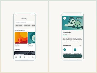 Harbor iOS app design ux ui illustration ios disaster readiness prepardness app