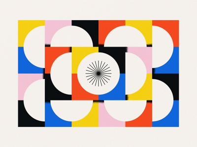 Shape Study: 018 primary colors negative space shading texture icons black red pink blue yellow stars shapes geometry abstract geometric squares circles gestalt flat minimal