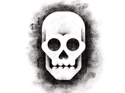 Skull shading grain monocrhome rough skull texture vector minimal