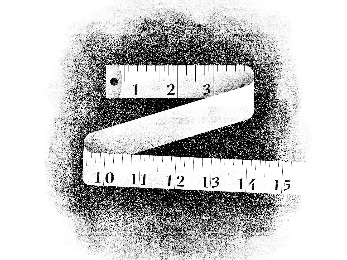 Tape Measure object monochrome paper rough grit gritty shading grain tape measure texture vector