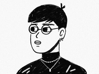 Selfie texture hair person glasses man portrait