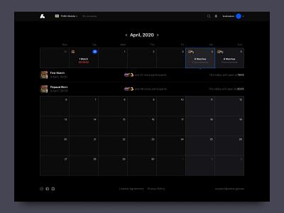 Arenum cup schedule game tournaments saas ecommerce typography black desktop ux ui website design web minimal clean