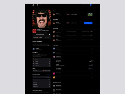 Arenum saas tournament game ecommerce cup typography brand desktop ux ui website design web minimal clean