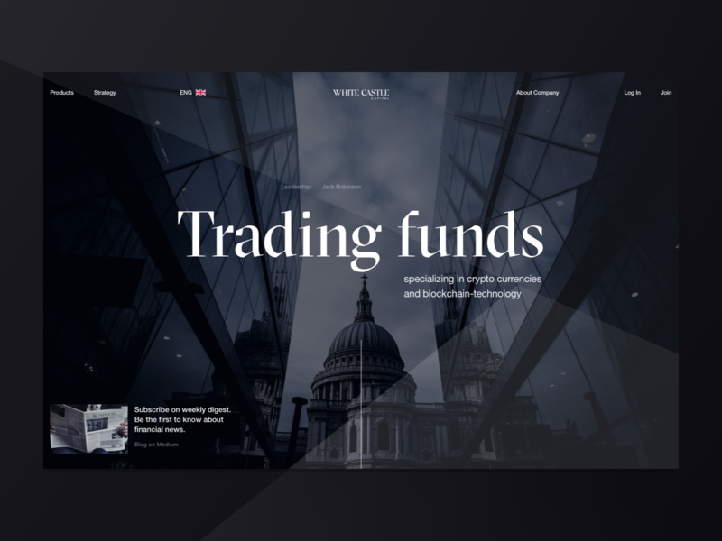 White Castle Capital capital web design investment fund finance dark logo typography helvetica desktop brand ux ui typogaphy website design web clean minimal