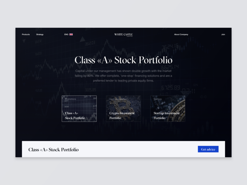 White Castle Capital products investment fund capital typography helvetica ux design black brand desktop ux ui website design web minimal clean
