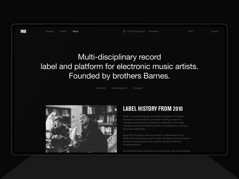 Package Records. festival event web design music record label records typography black helvetica ux design brand desktop ux ui website design web minimal clean