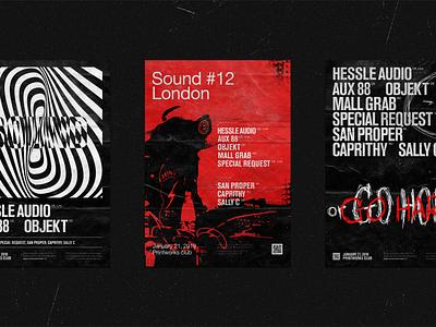 Package Records record label music sound adveristing afisha poster brutalism black typography branding vector logo illustration brand design minimal clean