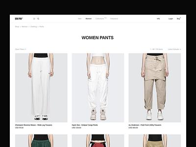 BRN PRN concept fullscreen e-commerce catalog ux design black brand desktop ux ui website design web minimal clean