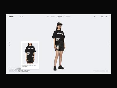BRN PRN concept fashion helvetica typography ux design white e-commerce collection black desktop brand ux ui website design web minimal clean