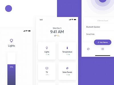 04 Nemo ⏺ branding remote smart home video mobile gif weeklyui ui ux kono clean animation