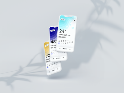 07 WTHR ⛅️ kono clean ux ui weeklyui mobile weather design app
