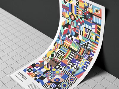 Invisible Cities by Italo Calvino invisible cities italo calvino book poster shapes geometric colour illustration graphic design editorial design