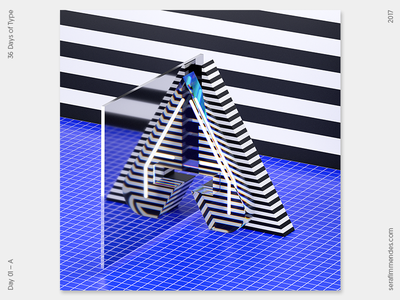 A - 36 Days of Type daily type design graphic graphic design cgi illustration typography 3d 36daysoftype