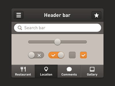 IOS elements ui ios assets elements app iphone mobile icons navigation retina menu switch