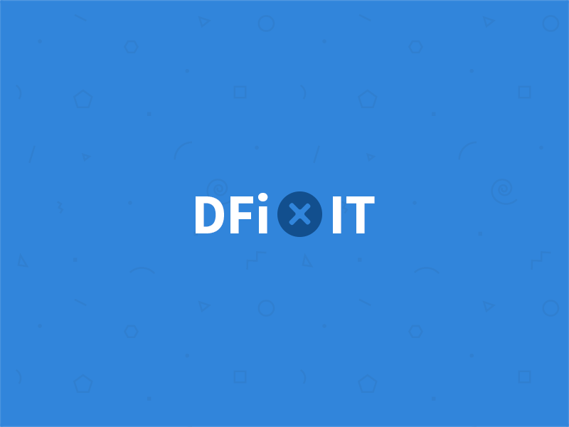 Dfixit Logo ios apple smartphone belgium flat minimalist screw blue fix ipad iphone logo